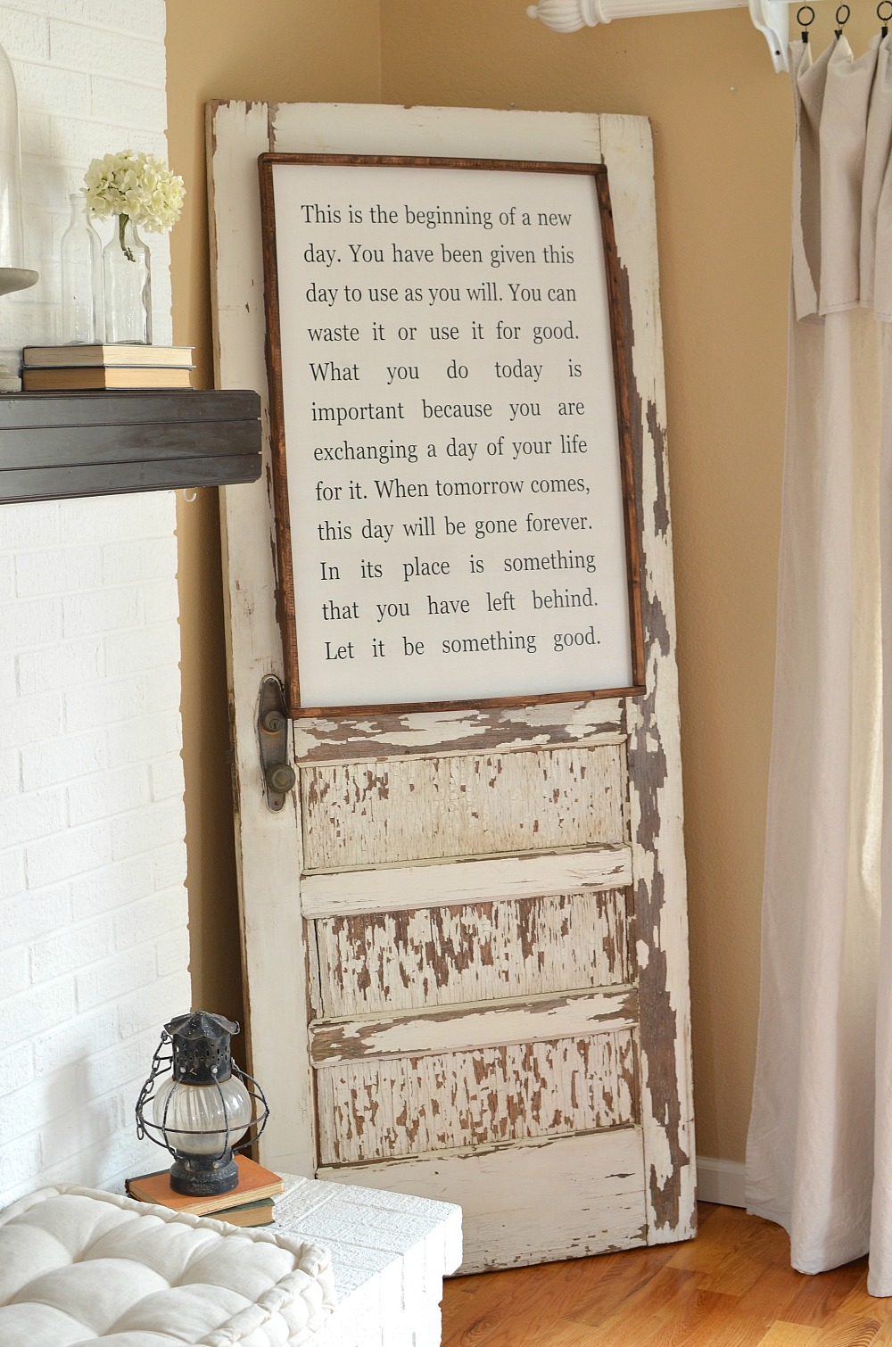 How to Safely Secure an Old Door to the Wall