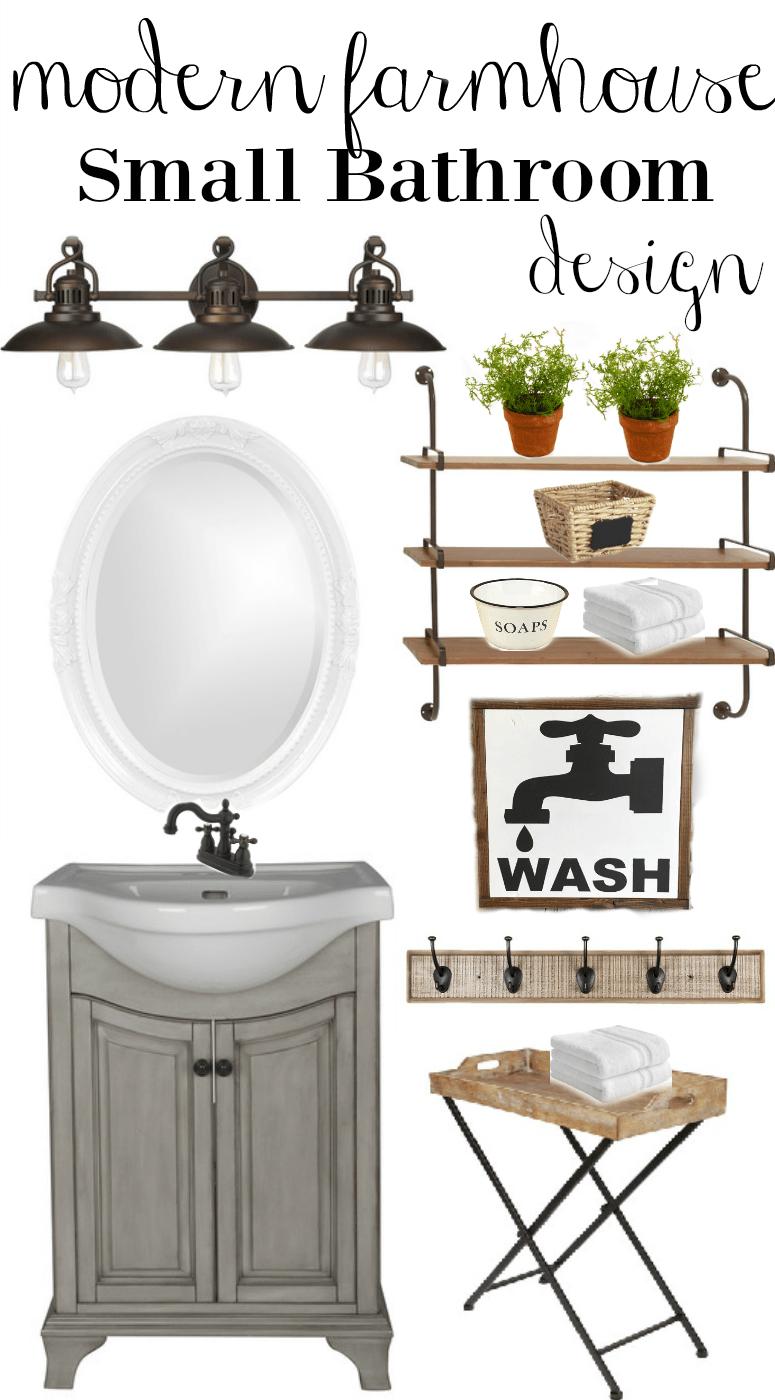 Farmhouse Rehab: Small Bathroom Makeover
