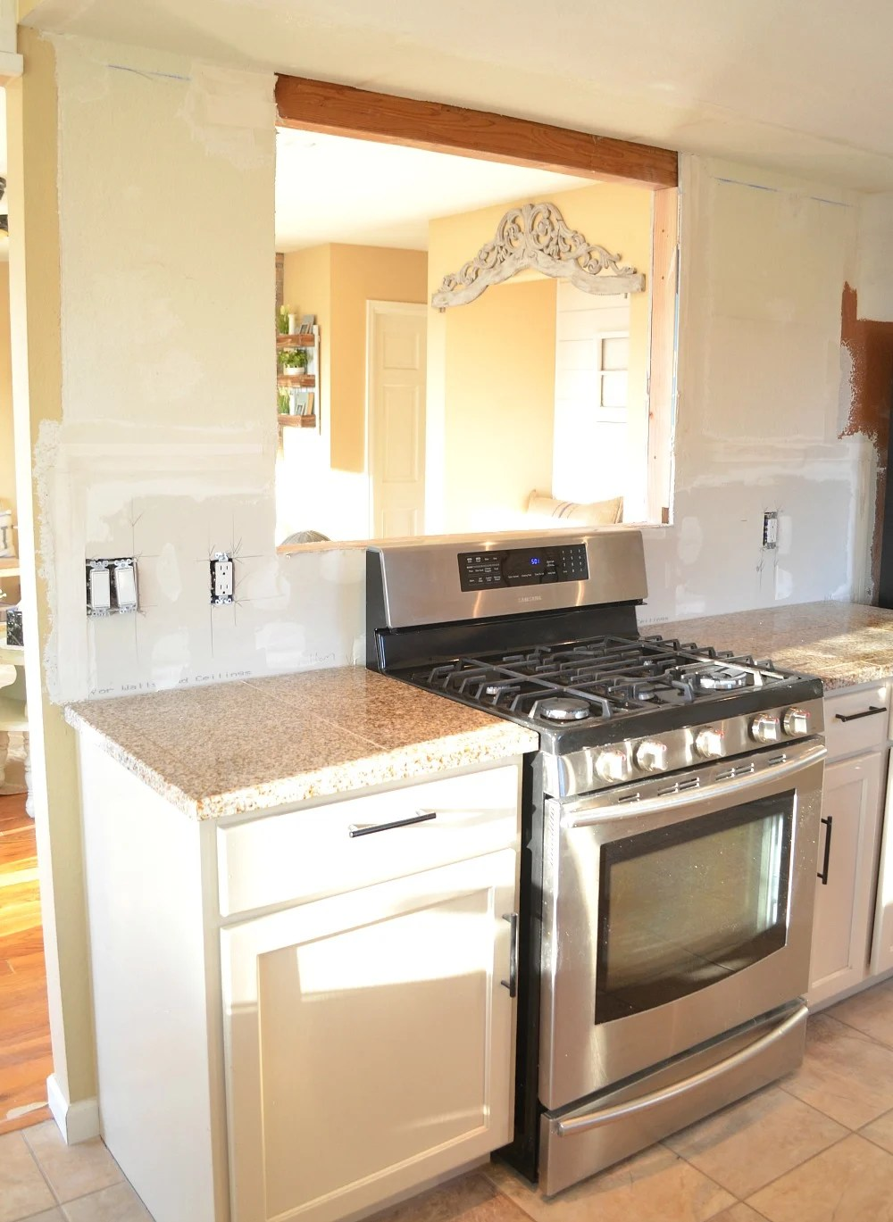affordable kitchen remodel ranges gas update: the pass through is done!