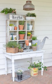 Vintage Potting Bench Farmhouse