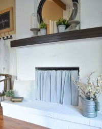 Easy DIY Fireplace Cover