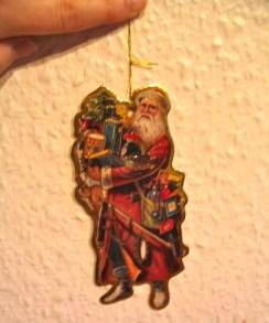 Santa ornament - he is sporting a sword