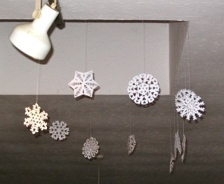 Paper snowflakes (curtesy of Canada)