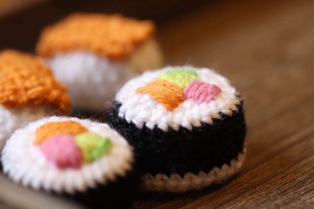 easy crochet sushi set all done!