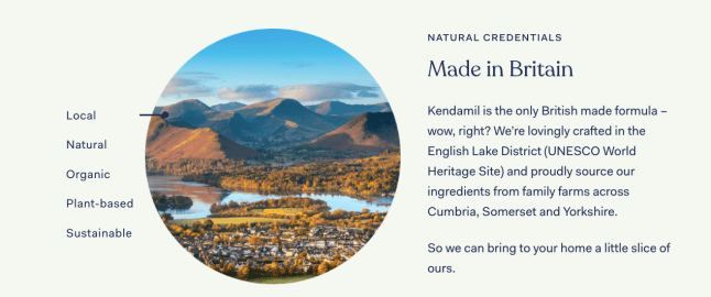 Kendamil organic infant formula is made in Britain