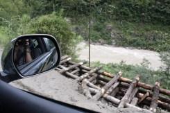 Road repairs needed. Near Tangmi, Tibet © Jo James