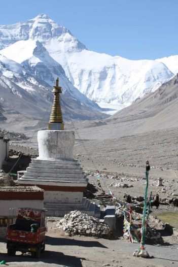 Almost the end of the road, Rongbuk Monastery © Jo James
