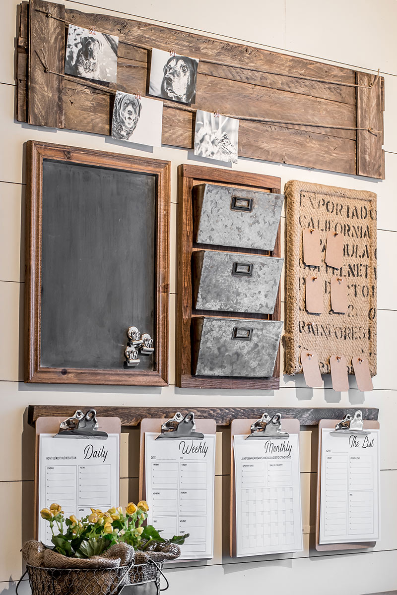 How To Style A Home Fit For A Family: A DIY Farmhouse Style Command Center With Free Printables
