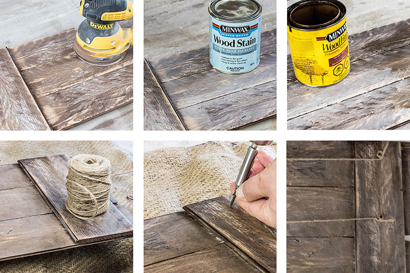 Finish tutorial for rustic picture hanger.