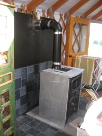 Stove install complete! | littleyurtontheborderlands