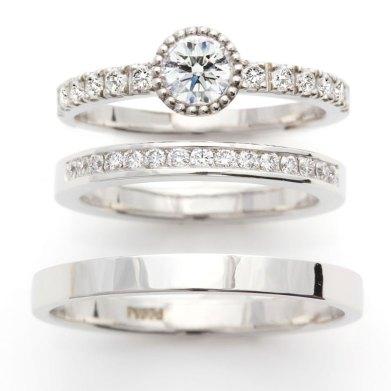 こだわりのダイヤモンドを使用したセットリング