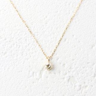 4月の誕生石(ダイヤモンド)プチネックレス