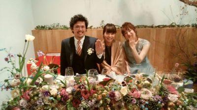 お花屋さんの結婚パーティー
