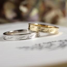 麦柄が可愛いモチーフ(N様オーダーメイド結婚指輪