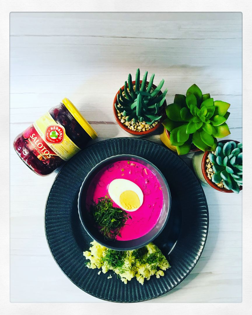cold beetroot soup recipe image