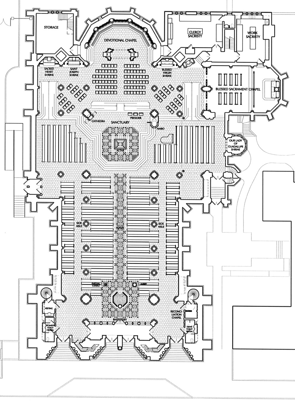 medium resolution of  basilica of the assumption floor plan