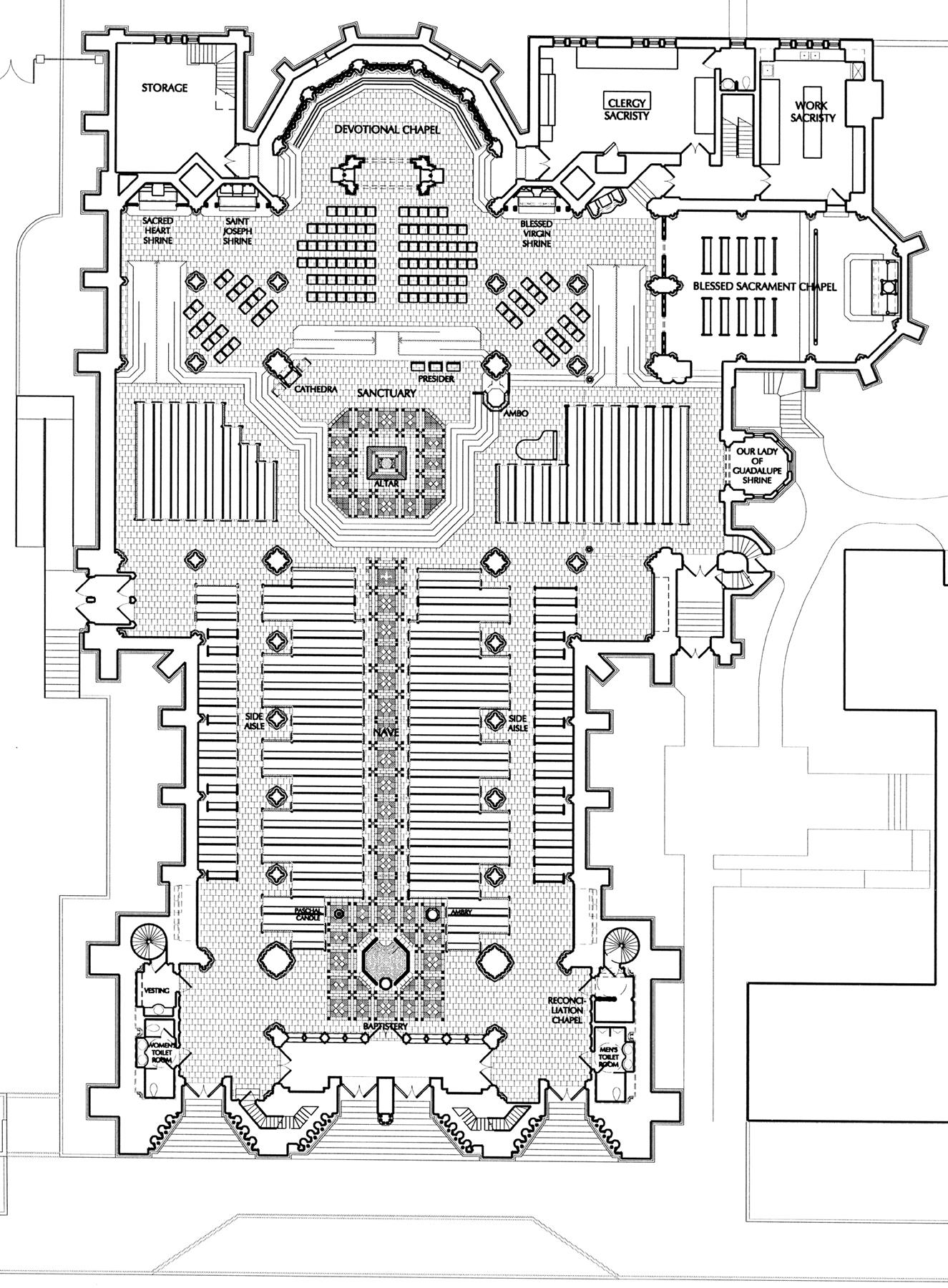 hight resolution of  basilica of the assumption floor plan