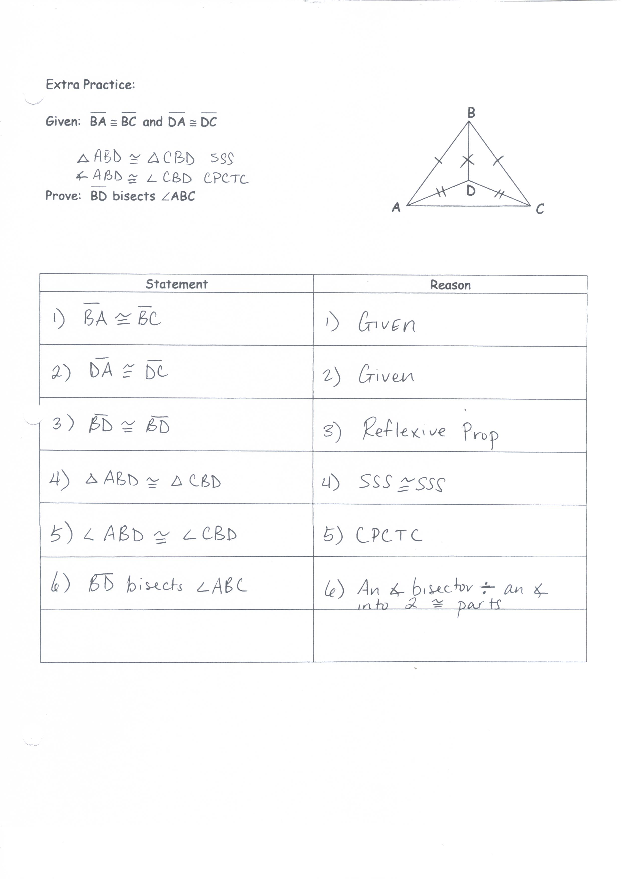Unit 2 Congruent Triangle Proofs