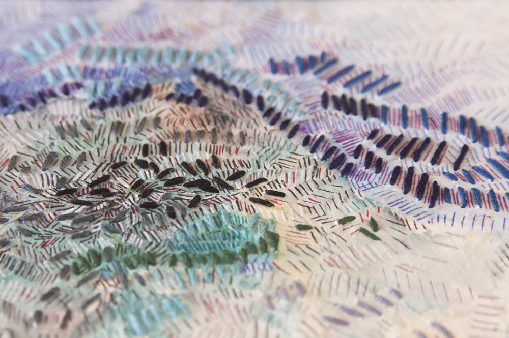 Textured Cities - mixed media art