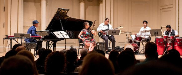 Dongfeng Liu performing at Carnegie Hall