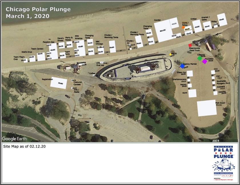 Polar Plunge Tent Map