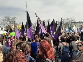 Manifestazione femminista a Istanbul nel 2020