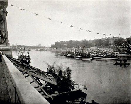 торжественная-закладка-моста-императора-Александра-III-через-Сену.