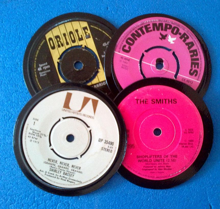 vinyl-coasters