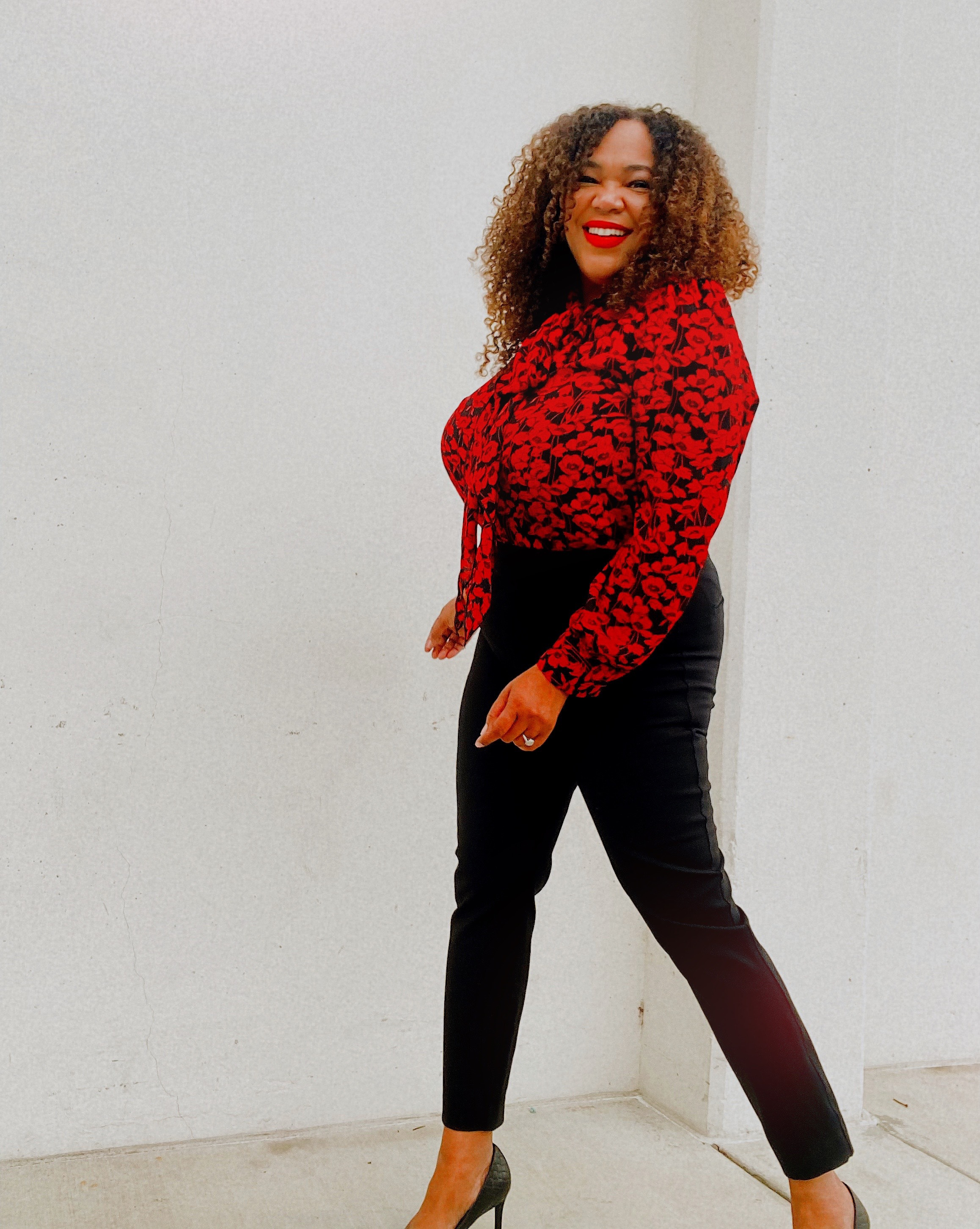 A Black Women in Black Pants