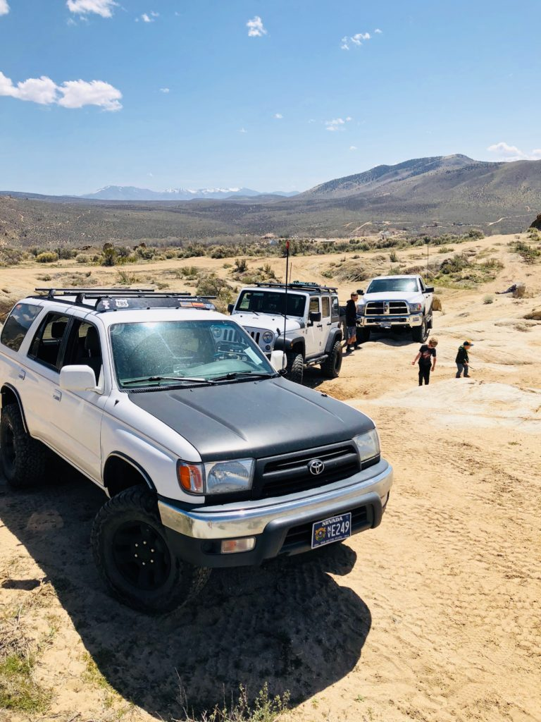 4Runner, Power Wagon and Jeep Wrangler at Prison Hill
