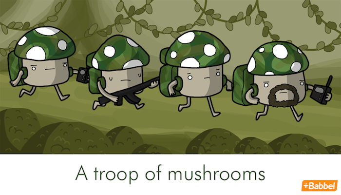 """A troop of mushrooms"" - Illustration von James Chapman"