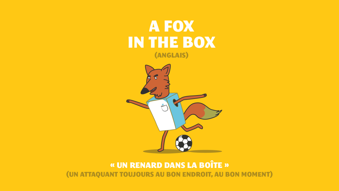L'expression A fox in the box en anglais