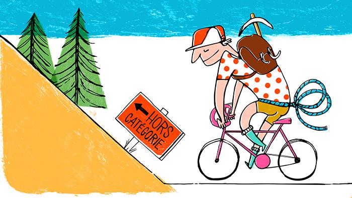 Les étapes du Tour de France sont parfois réservées aux grimpeurs