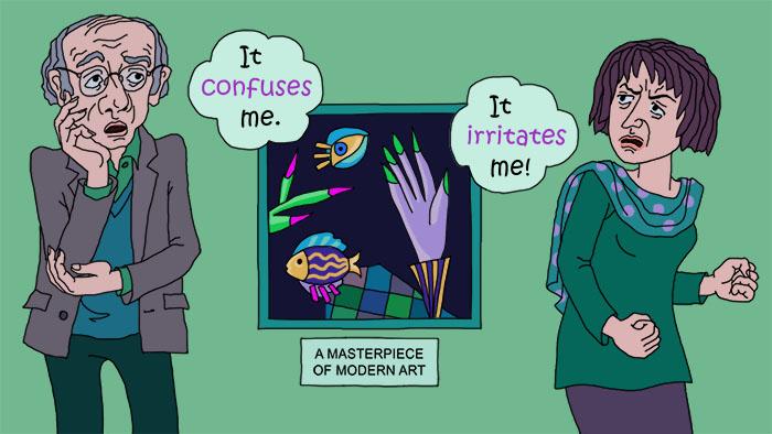 Falsche Freunde: irritate vs. confuse