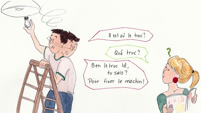 Machin bidule truc choses sont autant de mots que les français utilisent quotidiennement