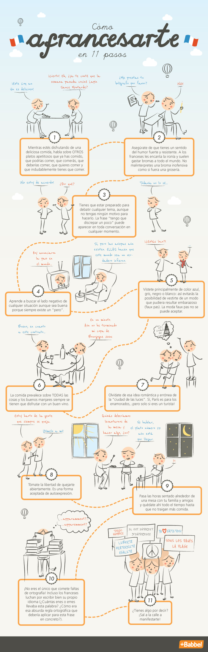 Sigue estos 11 pasos para convertirte en francés.