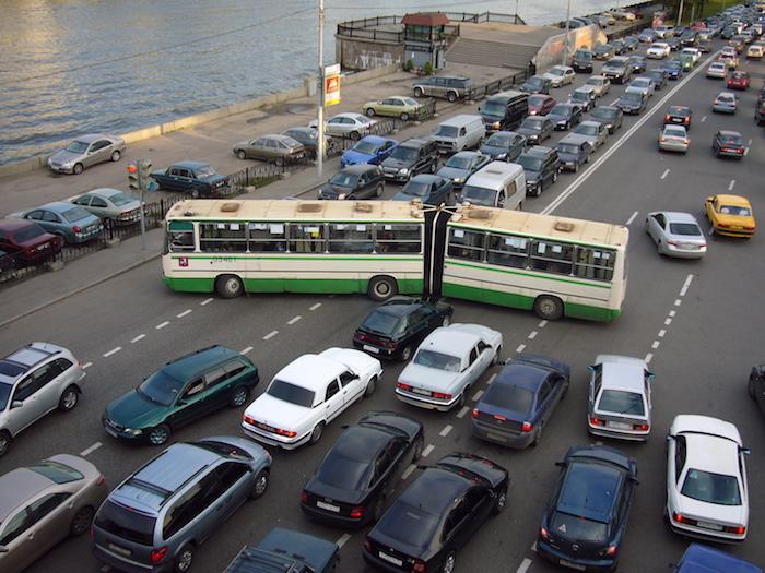 Les embouteillages à Moscou