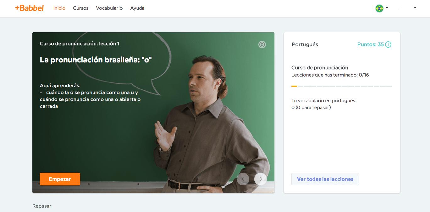 Curso de pronunciación portugués