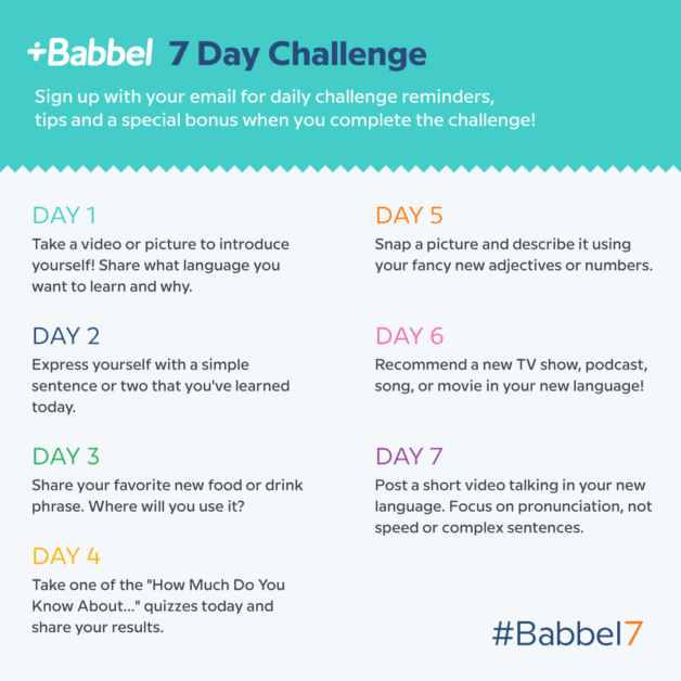 Babbel7 language learning challenge