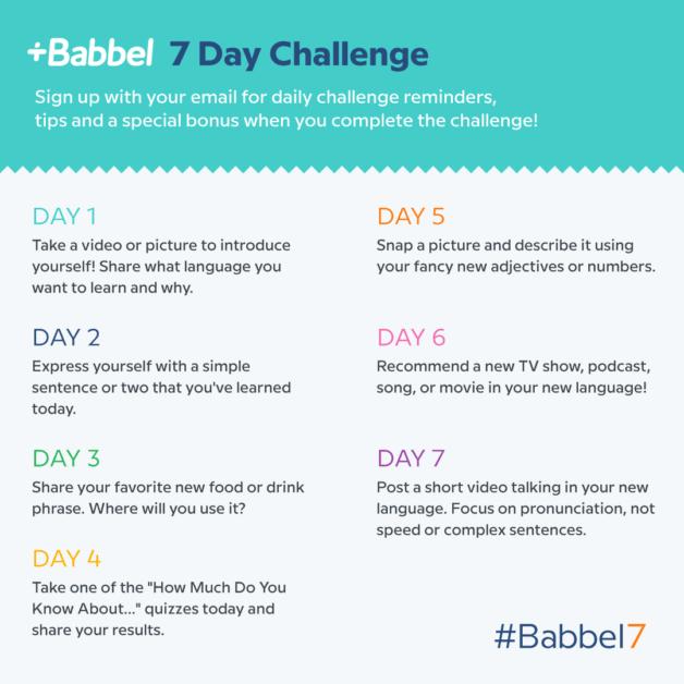 Babbel7 language learning challenge