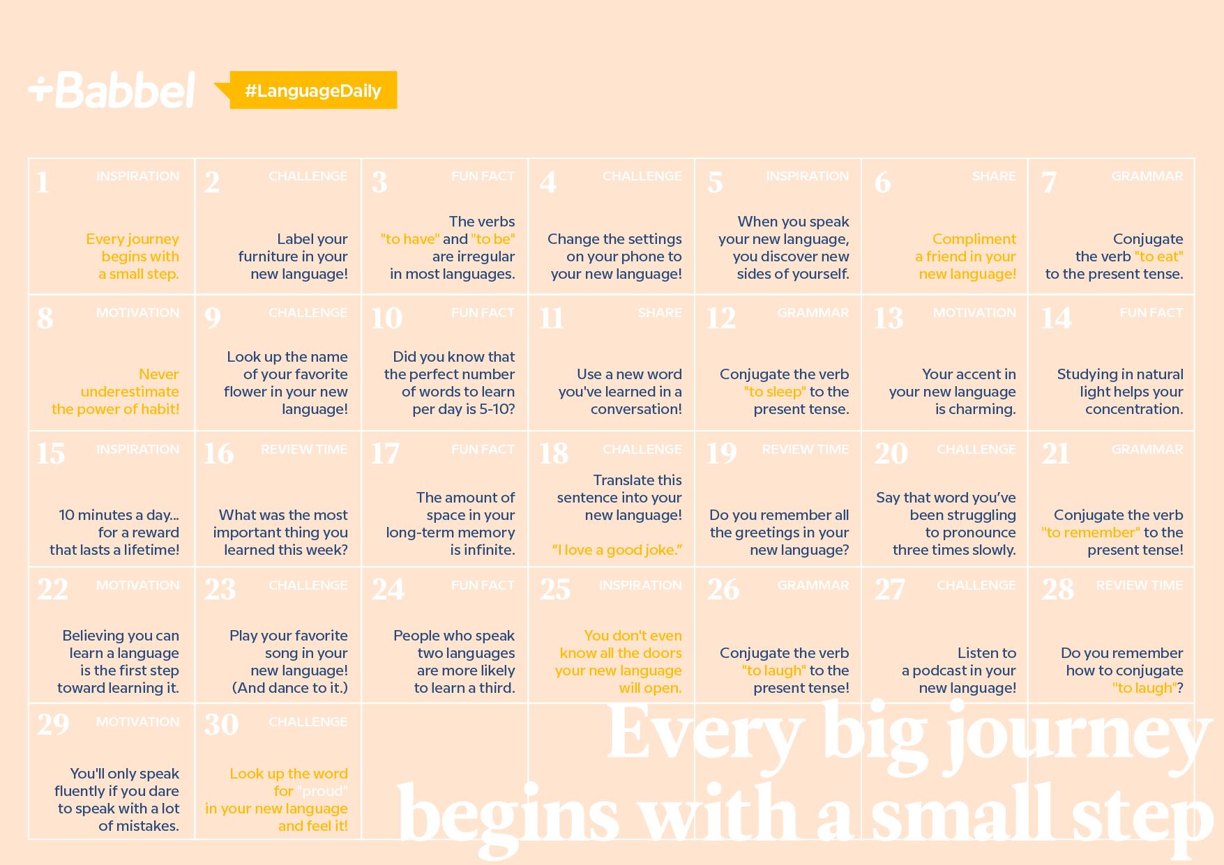 LanguageDaily Calendar
