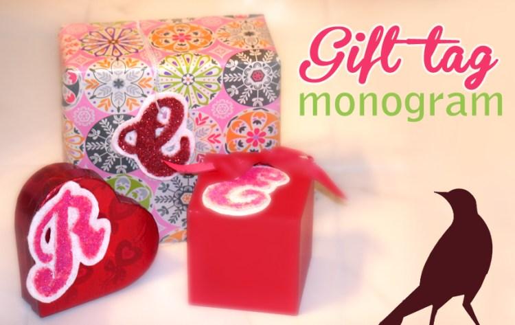 Monogram Gift Tags tutorial