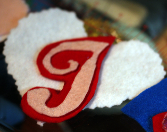 Monogram Gift Tag with heart