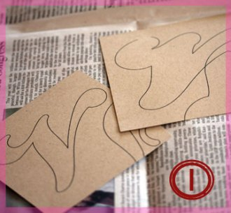 step 1 - print file and cut letters
