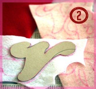 Step 2 - cut out felt letters