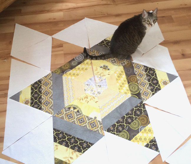 Scrappy Triangle Block quilt layout