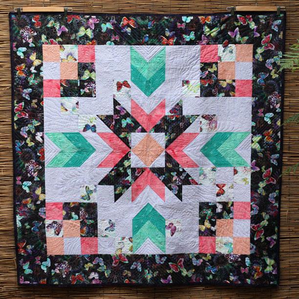 Hoffman Challenge 2016 Garden Star #2 Full Quilt