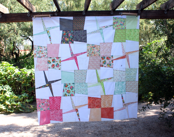 Mixed windmill quilt top
