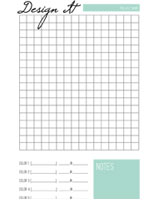 Downloadable PDF Design it sheet