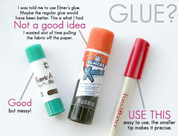 Should I use glue when paper piecing?